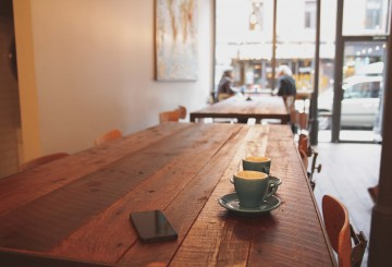 Drink Coffee in Cafe