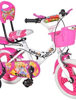 Taboo Pink & White Bicycle For Kids